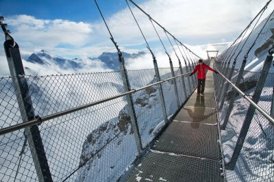 Europe's highest suspension bridge