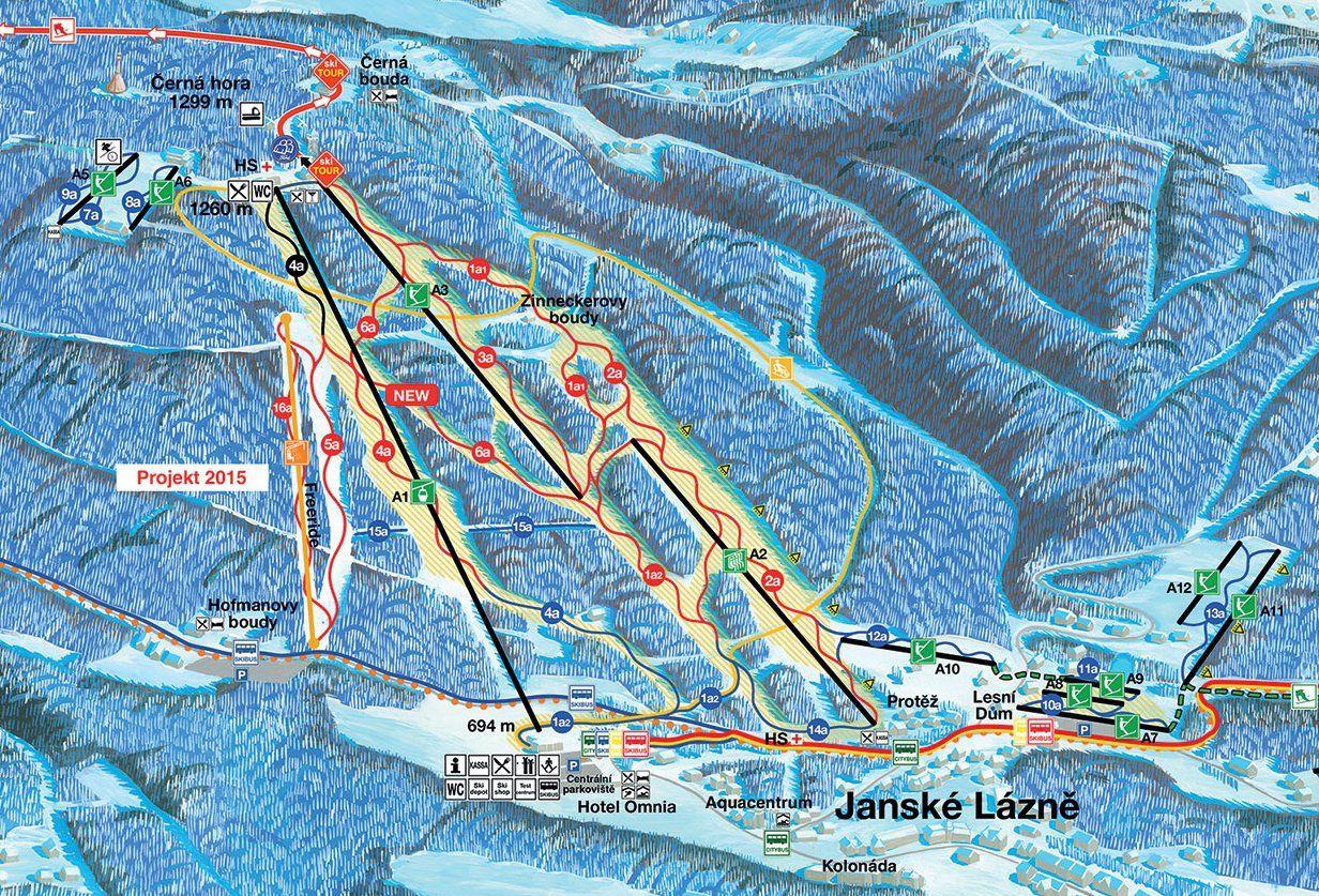 Cerna Hora Slopes In Czech Republic Easy Medium Difficult