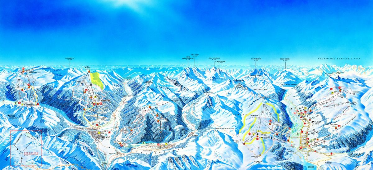 Ski Resorts Italy ski map Ski Resorts Italy slopes lift ski