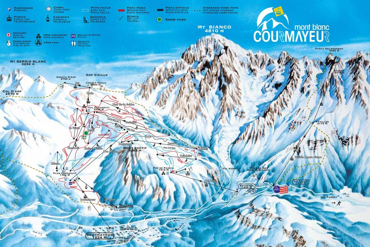 Ski Resorts Italy ski map Ski Resorts Italy slopes lift ski