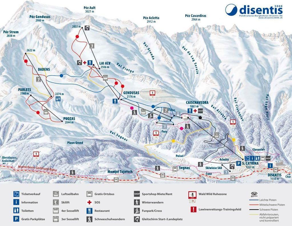Grisons Ski Resorts Switzerland ski map Ski Resorts