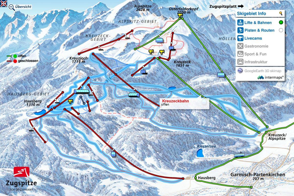Map Of Germany Garmisch.Garmisch Classic Ski Resorts Germany Ski Map Ski Resorts